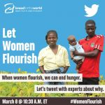 #WomenFlourish Twitter Chat – March 8, International Women's Day